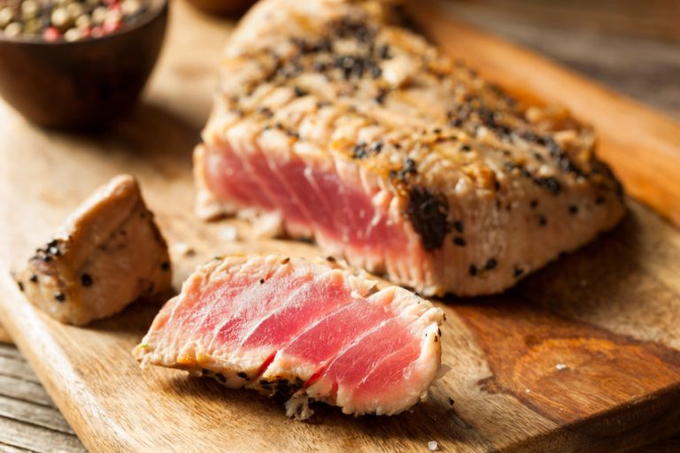 Homemade Grilled Sesame Tuna Steak with Soy Sauce